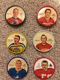 1961-62 SHIRRIFF SALADA HOCKEY COINS