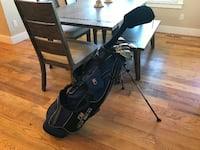 Junior Left Hand Golf Clubs and Bag Star