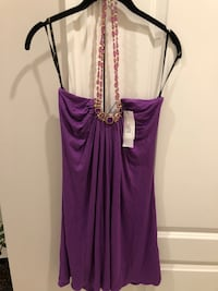 Halter shirt purple with beautiful necklace size small brand new with tags size small  Keego Harbor, 48320