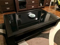 Black Glass Top Coffee Table New Westminster, V3M 3R5