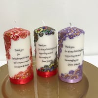 Personalized gifts/henna candle/candle art/handmade Torrance