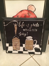 brown and white jar painting