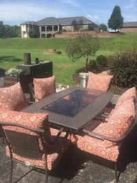 Outside table and chairs set with cushions  Lowell, 72745