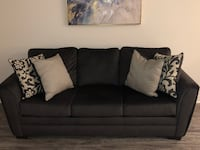black fabric 3-seat sofa Cerritos, 90703