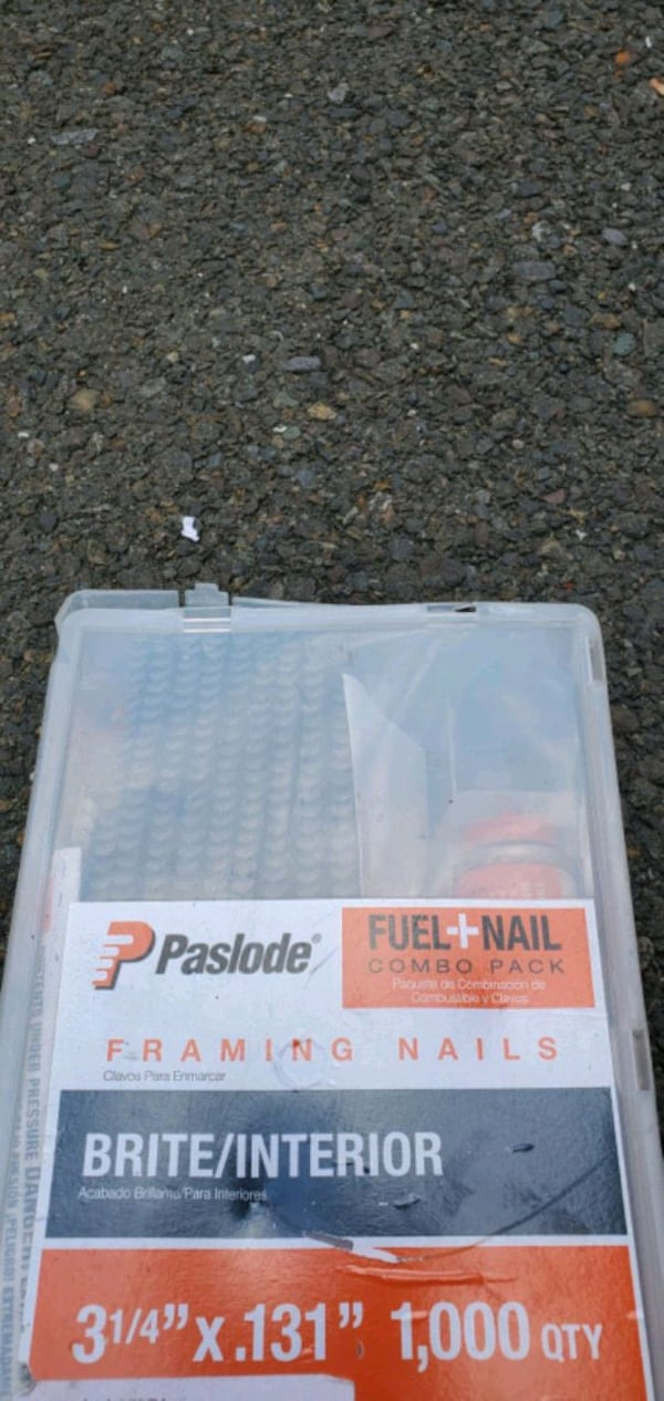 Nails,  combo kit with fuel cell  gun 12's and 8's 540aee40-13dc-4d29-93da-90d6469eb22e