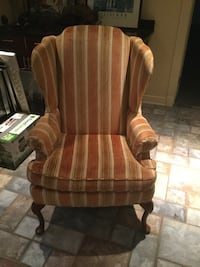 Wingback chair/striped/washable velvetine  Waite Hill, 44094
