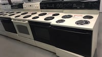 """30"""" electric stove almond Color 90 days warranty  Reisterstown, 21136"""