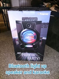 Light up speaker and Karaoke machine