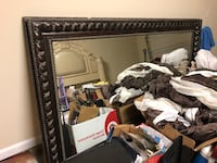 Black wooden framed wall mirror 7' x 4' brand new retailed $300 Waldorf, 20603