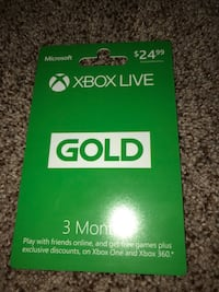 24$ Xbox Live gold gift card Highland, 92346