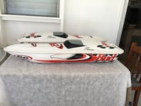 Budweiser racing pool toy boats (inflatable)