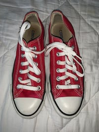 Women's Low Top Red Converse Size 7