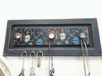 Wall organizer with dog leash hook. Solid pine easy hang Aurora, L4G 2E9