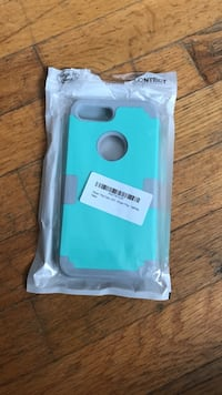 iPhone 7+ teal and gray protective case. Unopened and never used