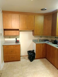 Honey coloured complete kitchen cabinets for sale Pointe-Claire, H9R