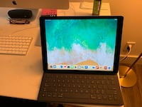 iPad Pro 12.9 128GB WiFi with Apple keyboard and pencil. Free bonus item red Logitech backlit key board!  Falls Church, 22041