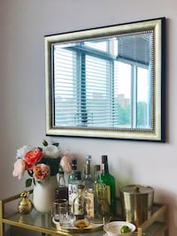 West Elm Gold/Black Accent Mirror