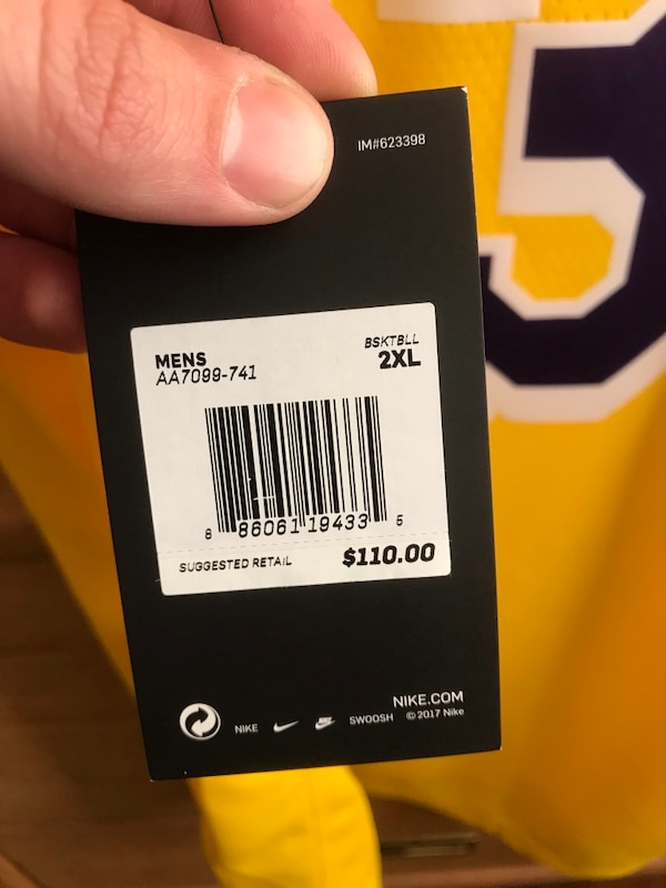 6009e7d5b Used Men s XXL Lakers LeBron James jersey for sale in Bakersfield ...