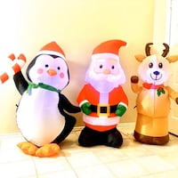 Christmas inflatable holiday decoration indoor outdoor Santa penguin Laurel, 20707