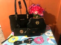 black and gray leather handbag Gaithersburg, 20878