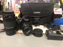 Camera , Electronics Canon T6 With 2 Lens & Charger w/ Case