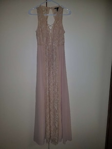 Evening Gown with lace accent