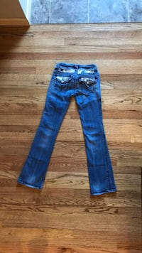 Blue denim stone wash jeans Size 26 Omaha, 68134