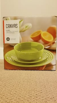 green Canvas dinnerware set box Victoria, V9B 6W5