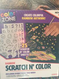 New in box scratch n colour art set best gift  3128 km
