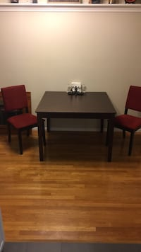 Rectangular brown wooden table with two chairs dining set San Diego, 92120