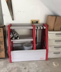 white and red wooden cabinet Gaithersburg, 20879