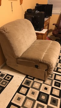 brown fabric padded sofa chair Rocklin, 95765