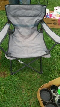 gray and green camping chair Lennon, 48449