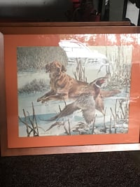 brown wooden framed painting of horse High Point, 27265
