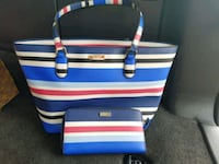 white, blue, and red striped tote bag Baytown, 77521