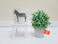 Zebra & Modern Japanese Mug / Mugs / Ornament / Decor / Plant Holders Vancouver
