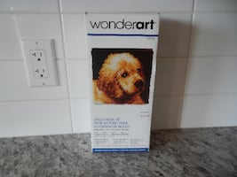 """*New* Wonderart Latch Hook Kit """"Puppy Love"""" 12"""" x 12"""". Kit does not include the latch look. $10 PU Morinville"""