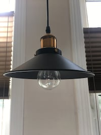 NEW Black and copper pendant light / 2 available