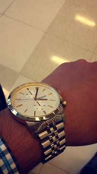 two tone fossil watch