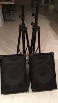 "15"" wedges w/stands & cables"