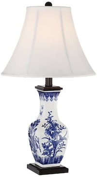 Blue & White Porcelain Lamp Lanham