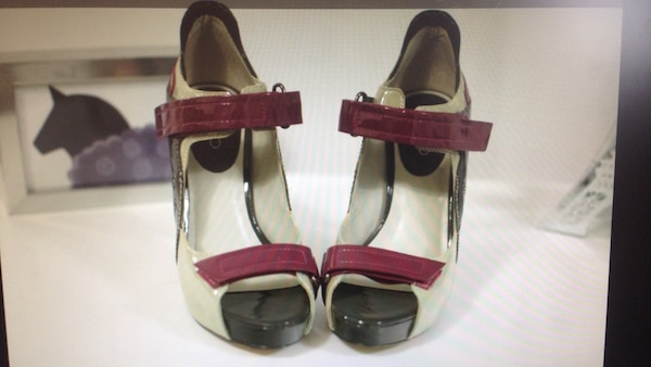 349daead6df Used Women s brown and white open toe heels for sale in Vaughan - letgo