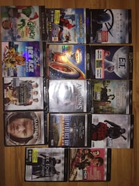 assorted DVD case collection