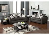 black and white living room set HOUSTON