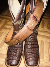 Crocodile Leather Skinned Boots Fort Smith, 72904