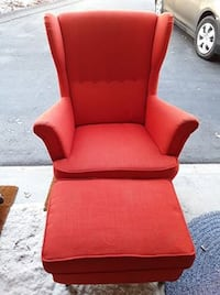 RED CHAIR WITH FOOT STOOL Antelope