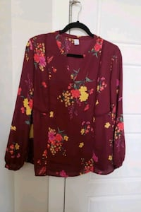 New Burgundy floral blouse Calgary, T3K
