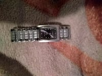square silver analog watch with link bracelet Atwater, 95301