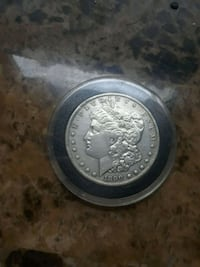 round silver-colored coin Columbus, 43211