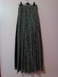 Silk ankle long skirts BURNABY